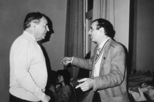 With Pierre Boulez at the Moscow Conservatory